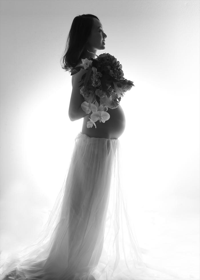 #295 MaternityPhoto マタニティフォト モノクロ